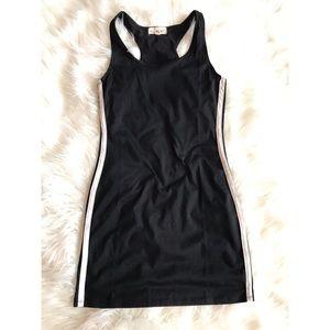 Dresses & Skirts - Jersey dress. Black bodycon side stripe sporty